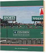 The Green Monster Fenway Park Wood Print