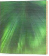 The Green Northern Lights Corona Wood Print