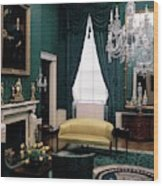 The Green Room In The White House Wood Print