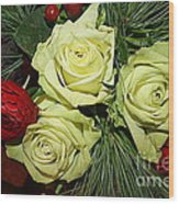 The Green Roses Of Winter Wood Print