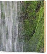 The Green Side Wood Print