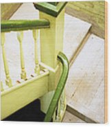 The Green Stairwell Wood Print