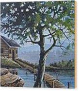 The Green Tree Wood Print