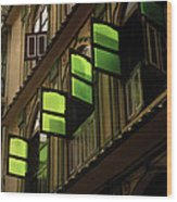 The Green Windows Wood Print