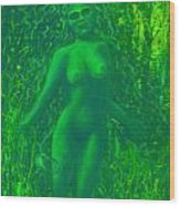 The Green Wood Nymph Calls Wood Print