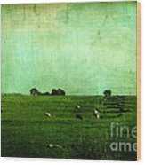The Green Yonder Wood Print by Trish Mistric