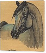 The Grey Arabian Horse 1 Wood Print