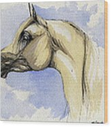 The Grey Arabian Horse 12 Wood Print