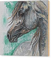 The Grey Arabian Horse 13 Wood Print