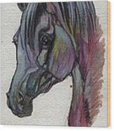 The Grey Horse Drawing 1 Wood Print