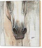 The Grey Horse Portrait 2014 02 10 Wood Print