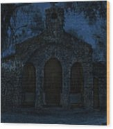 The Grotto By Moonlight Wood Print