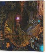 The Grottos Echo Wood Print