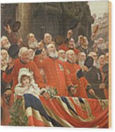 The Guards Cheer, 1898 Wood Print