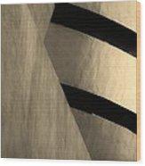 The Guggenheim In Sepia Wood Print
