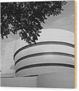 The Guggenheim Museum In Black And White Wood Print
