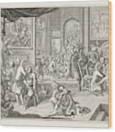 The Guild Of Surgeons The Workshop, 1731 Wood Print