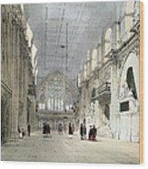 The Guildhall, Interior, From London As Wood Print