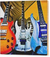 The Guitars Of Jimmy Dence - The Kingpins Wood Print by David Patterson