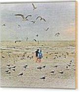 The Gulls Wood Print