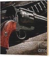 The Gun That Won The West Wood Print