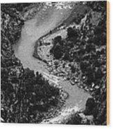 The Gunnison Bw Wood Print