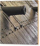 The Guns Of The Uss Cairo Wood Print