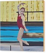 The Gymnast Wood Print
