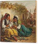 The Gypsies Wood Print by Thomas Kent Pelham