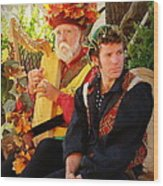 The Gypsy And The Minstrel Wood Print