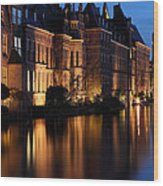 The Hague By Night Wood Print
