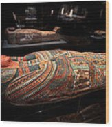 The Hall Of Ancient Egypt Mummy Room Wood Print