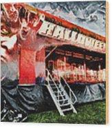 The Halloween Ride Wood Print