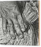 The Hand That Feeds Us Wood Print