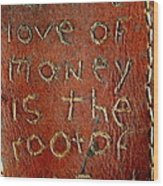 Handmade Wallet For The Love Of Money From New Orleans Louisiana  Wood Print