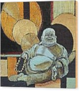 The Happy Buddha Wood Print