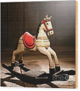 The Happy Little Rocking Horse In The Attic Wood Print