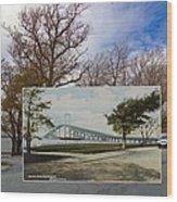 The Harbor At Ft. Greene In Newport Ri Wood Print