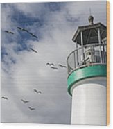 The Harbor Lighthouse Wood Print