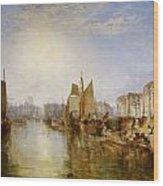 The Harbor Of Dieppe Wood Print