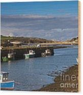 The Harbour At Hayle Cornwall Wood Print