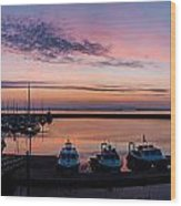 The Harbour Lights Wood Print