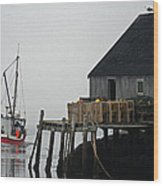 The Harbour Mist Wood Print