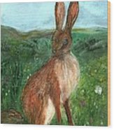 The Hare Wood Print