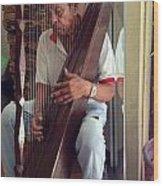 The Harp Man Wood Print