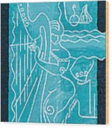 The Harp Player Wood Print