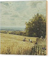 The Harvesters Wood Print by Edmund George Warren