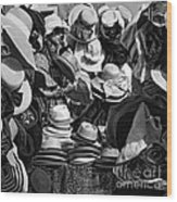 The Hat Box Wood Print
