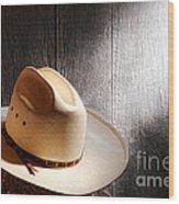 The Hat Wood Print