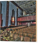 The Haunted Cole Theater Wood Print